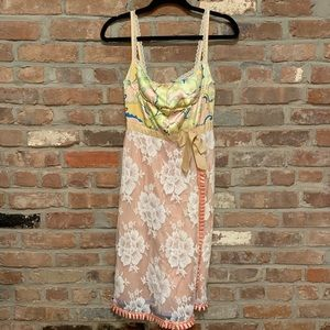 Tracy Feith (Anthropologie) Silk and Lace Dress